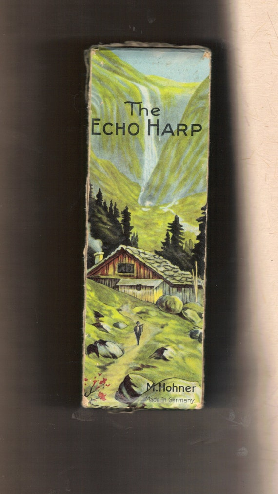 VINTAGE ECHO HARP in Original Box,  Made in Germany by M. Hohner