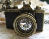 Antique camera charm pendant necklace