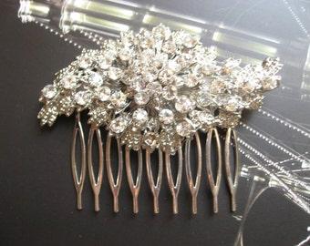 Twist rhinestones crystals wedding bridal hair comb