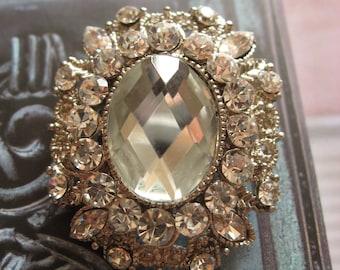 Elizabeth wedding bridal rhinestone crystals brooch pin, rhinestones brooch, crystals brooch, wedding jewelry, bridal accessory