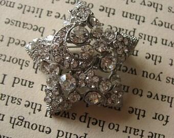 Romantic star wedding bridal rhinestone crystals dress buckle belt hair Victorian floral cake bling sparkling supply