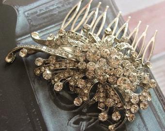 Romantic wind Swarovski rhinestone crystals wedding bridal bridesmaids hair comb