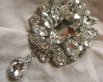 Maria Antoinette sparkle Swarovski rhinestone crystals wedding bridal brooch pin, wedding brooch, bridal brooch, rhinestones brooch