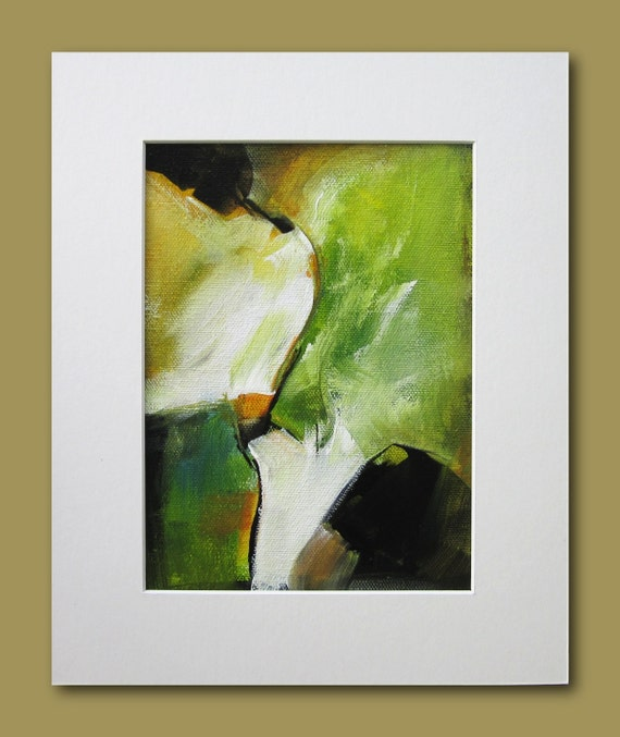 Original Acrylic Painting / Abstract on Canvas / 8 x 10 / 014 / Lacoste