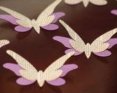 Purple/book page 3D butterlies