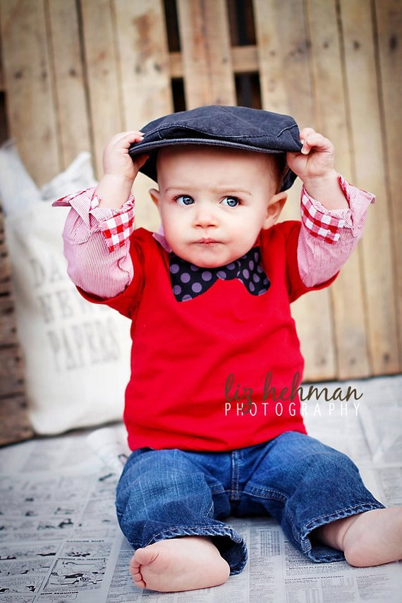 Boy red bow tie applique shirt 24 months toddler baby shower for Baby shirt and bow tie