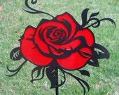 Romantic Rose Yard Art