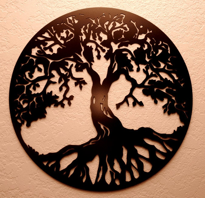 tree of life metal wall art. Black Bedroom Furniture Sets. Home Design Ideas