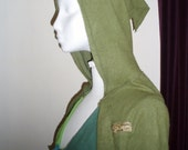 Festival Pixie Fleece Shrug   MADE TO ORDER long sleeved  with pixie hood