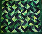 Graphic Greens Art Quilt