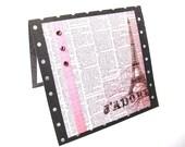 J'adore Pink Eiffel Tower Pop Up Card