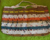 Recycled Purse Handmade from Plastic Grocery Bags