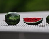 Polymer Clay Miniature Watermelons (Set of 4)