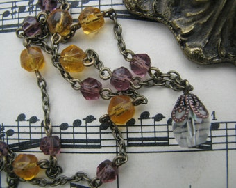 Reclaimed Vintage Rosary Beads Romantic Necklace