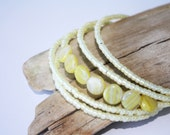Lemonade Stand Memory Wire Wrap Bracelet - Great gift for Mom