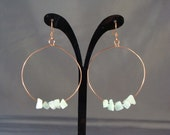 Copper hoops with stone chips