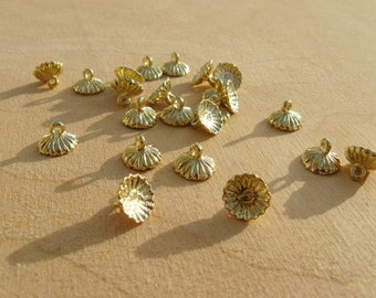 Ornament Findings - 24 pieces, gold tone - chicken egg size