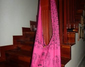 Thai Hobo Cross body Bag - Hippie style - Striking Pink Elephant Prints