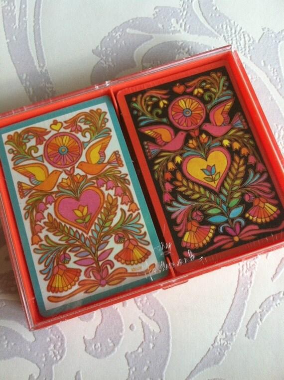 "Hallmark ""Filigree"" New Bridge Double Deck Game Cards -Vintage-"