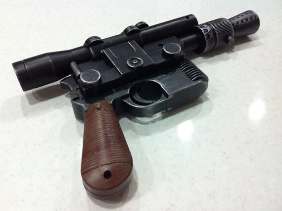 STAR WARS A New Hope Han Solo Luke Skywalker DL44 Blaster Movie Prop Replica gun