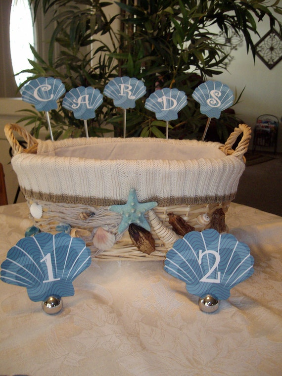 Seashell Table Numbers....WEDDING....EVENT   Set of 12