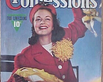 November 1942 True Confessions Celebrity Magazine has 122 pages of ads and articles