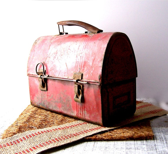 Fabulous Vintage Industrial Red Lunch Box