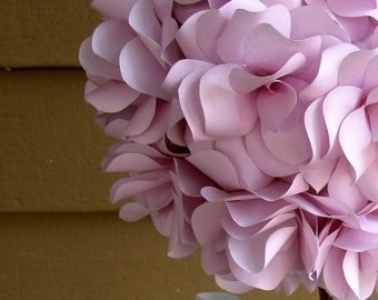 Custom Paper Floral Topiary Centerpiece.  Ideal for baby shower, baptism, birthday party  or baby gift.