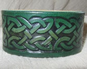 Leather Celtic Bracelet, Handmade in the USA