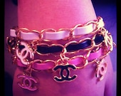 Chanel inspired charm bracelet
