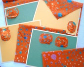 Desert Stars Fabric Envelopes and Note Cards Set of 4