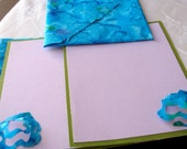 Pools in Your Eyes Fabric Envelopes and Notecards Turquoise Batik Set of Four