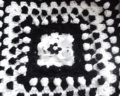 Baby Blanket Black and White .