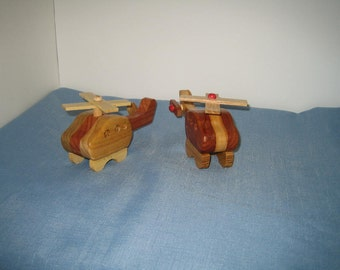 Helicopter Mini Wooden