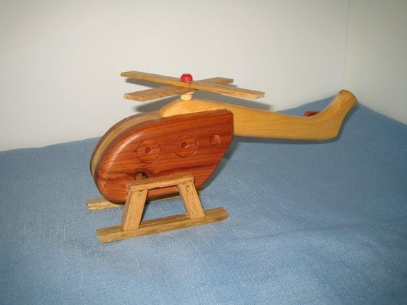 1 Wooden Helicopter