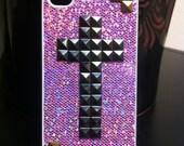 Stud Cross Purple Iphone Case