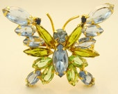 Warm Juliana Butterfly Brooch