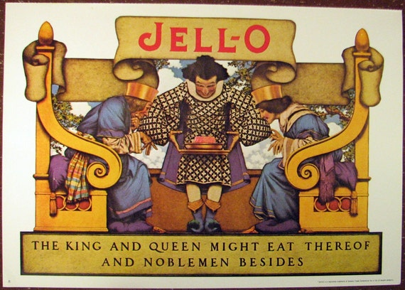 Maxfield Parrish Jello Ad - vintage reprint - small poster
