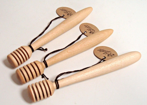 Handmade Wooden Honey Dipper by Maine Artist Al Mather, Kitchen Utensil