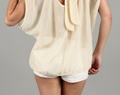 Ivory Bow Back Top