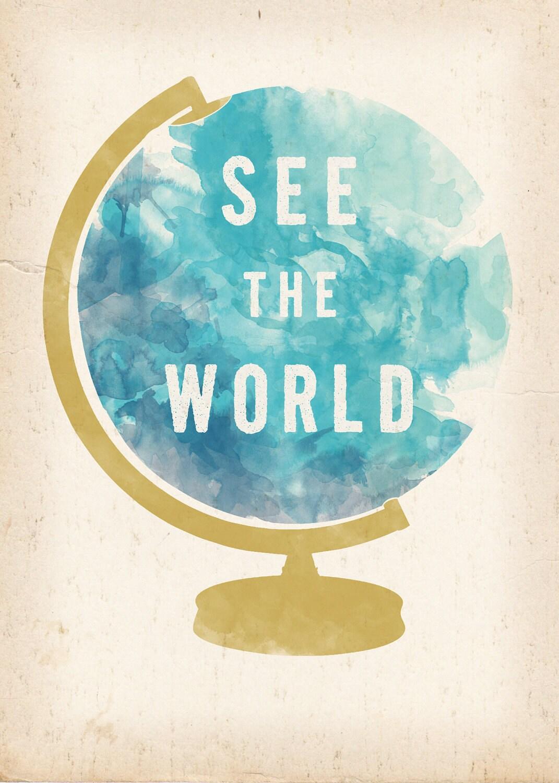 Worldgo To Www Bing Com: See The World Globe Print 5 X 7