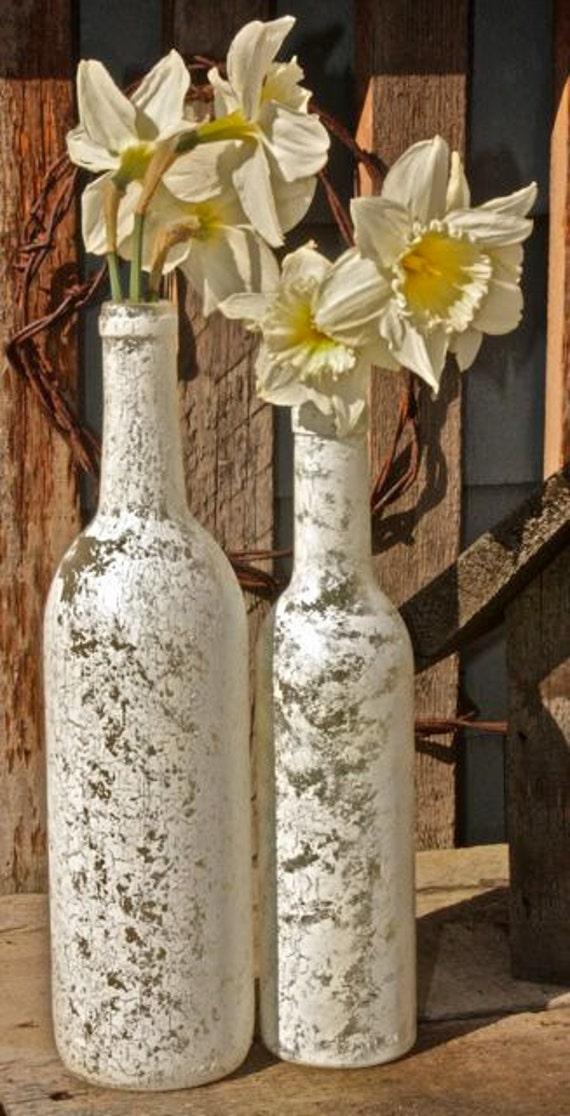 Any Place Vase: White Wine Bottle Vase Set