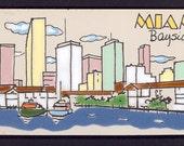 Tile Vintage Hand Painted Miami Bayside