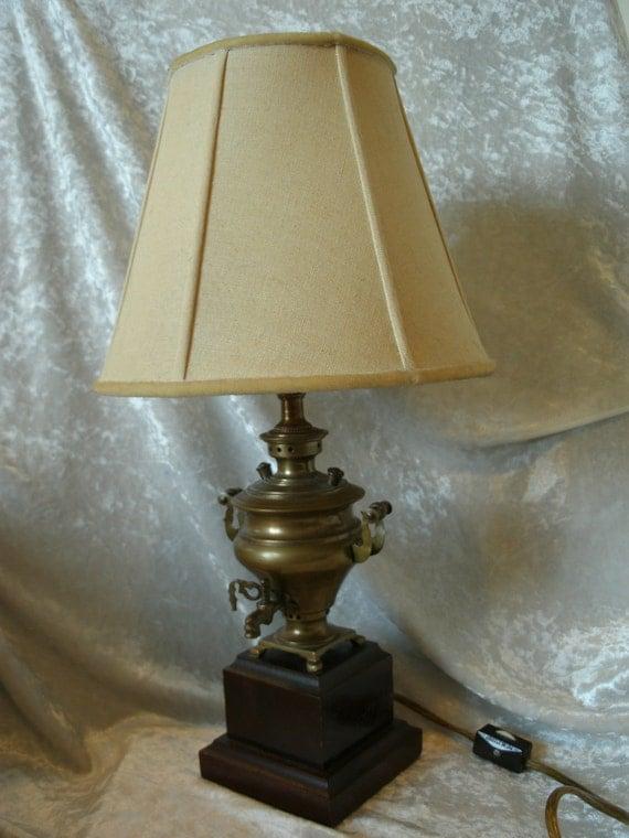 Brass Coffee/Tea Urn SAMOVAR Lamp