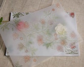 set of 30 spring floral glassine paper for Soap wrap Gift packaging Envelope Craft supplies