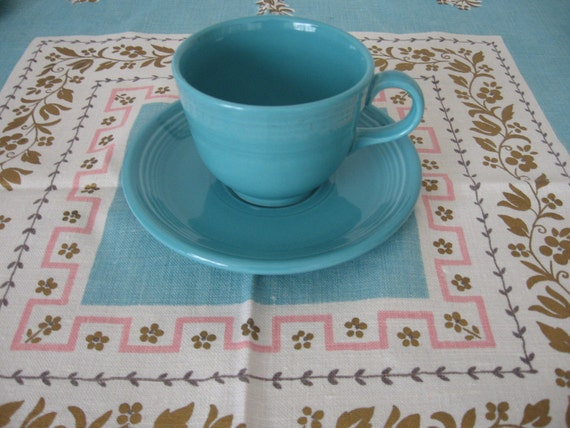 Turquoise Fiesta Cup and Saucer