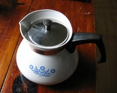 Vintage Teapot Corning Ware Blue Cornflower 6 Cup Corningware