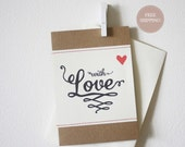 With Love Blank Stitched Greeting Card