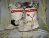 Vintage Tecnica ski lodge boots