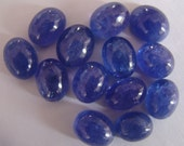 A plus Tanzanite Oval  6 x 8 mm smooth polished Cabochons For Jewelry Making, One Pieces